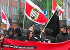 Cz�onkowie NPD na ulicach Hamburga