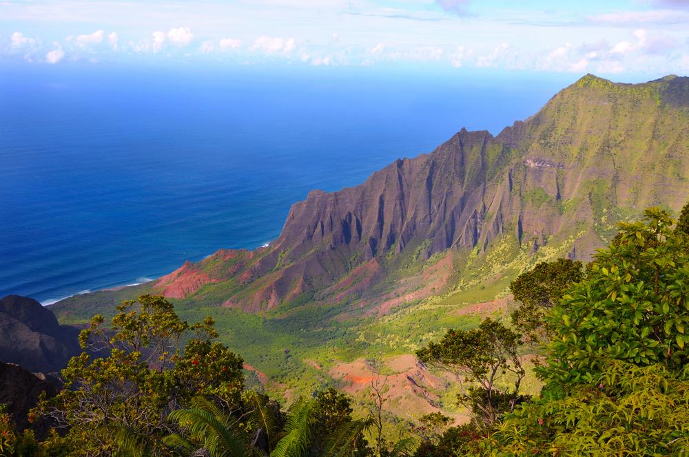 Widok na Dolinę Kalalau na wybrzeżu Pali, Kauai, Hawaje