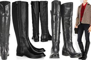 6f125ee55a607 Płaskie kozaki z czarnej skóry - lepsze droższe czy tańsze