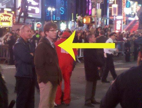 Hipster Cop na ulicach Nowego Jorku.