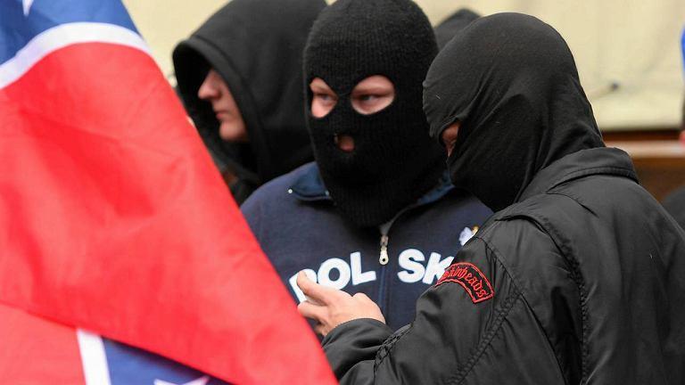 Demonstracja bojówek NOP w Toruniu