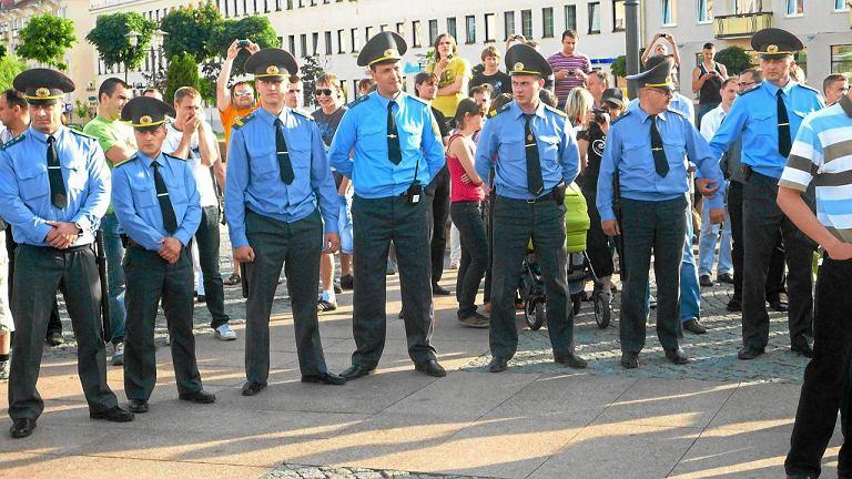 Białoruska milicja w Grodnie