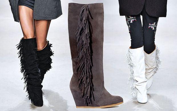 aa926337e910a Drożej-taniej: buty z frędzlami od Isabel Marant