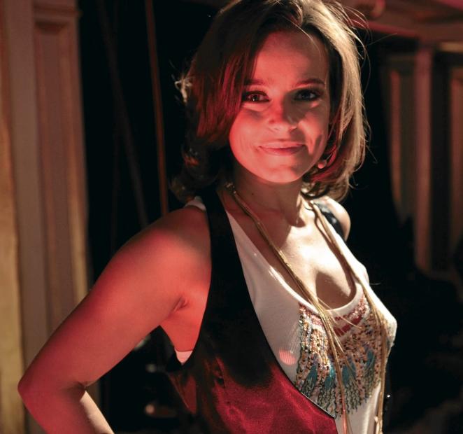 """14.12.2009 POZNAN , ANNA MUCHA PODCZAS PROB DO UJEC W TRAKCIE CASTINGU DO V EDYCJI PROGRAMU TELEWIZJI TVN """"  YOU CAN DANCE """" W TEATRZE POLSKIM . FOT. PIOTR SKORNICKI / AGENCJA GAZETA"""