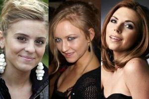 Kasia Tusk, Julia Oleksy, Aleksandra Kwa�niewska.