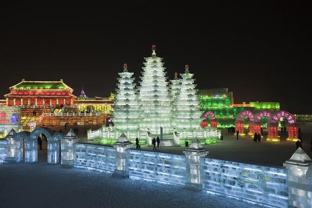 Chiny, Harbin, festiwal lodowy