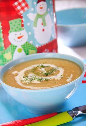 Zupa krem z kapusty i pora z ziemniakami