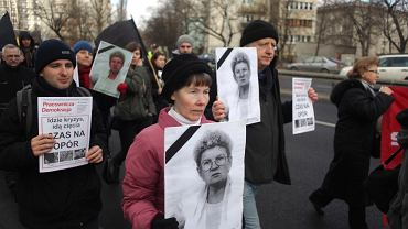 Marsz milczenia na pogrzebie Jolanty Brzeskiej