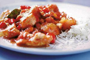 Kurczak z pomidorami, morelami i imbirem