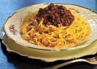 Spaghetti z sosem mi�snym bez pomidor�w