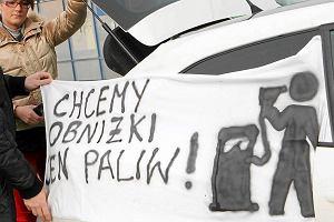 """""""Ceny paliwa rosn�, je�li rz�d nie ust�pi..."""". Protest kierowc�w"""