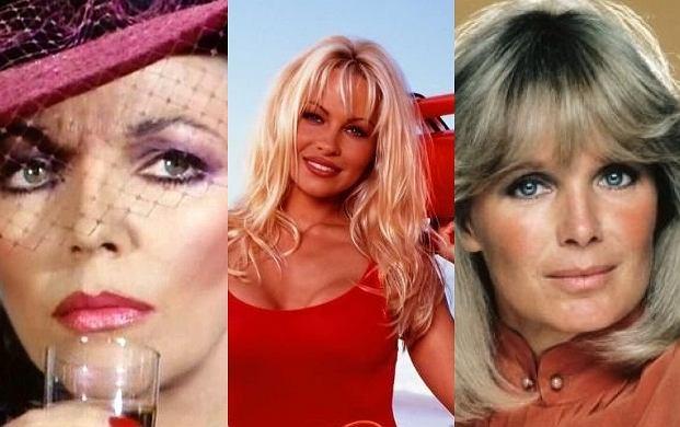 Joan Collins, Pamela Anderson, Linda Evans.