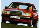 MERCEDES-BENZ 190 [W201], rok produkcji 1988, sedan, widok przedni lewy, samoch�d 4-drzwiowy, kolor czerwony jasny