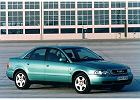 AUDI A4 [B5] 94-00, rok produkcji 0, sedan, widok przedni prawy, samoch�d 4-drzwiowy, kolor zielony jasny