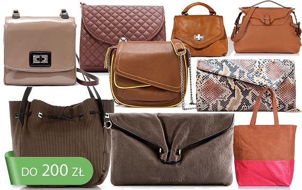 1a3be485e116c Brązowe torebki do 200 zł - ponad 50 propozycji!