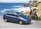 MAZDA Premacy 99-02, rok produkcji 2000, mpv, widok przedni prawy, samoch�d 5-drzwiowy, kolor niebieski jasny