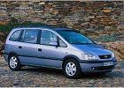 OPEL Zafira 99-05, rok produkcji 2000, mpv, widok przedni prawy, samoch�d 5-drzwiowy, kolor silver grey
