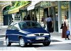LANCIA Y 95-03, rok produkcji 2001, coupe, widok przedni prawy, samoch�d 3-drzwiowy, kolor niebieski jasny