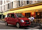SUZUKI Wagon R+ 03-05, rok produkcji 2003, kombi, widok przedni prawy, samoch�d 5-drzwiowy, kolor czerwony jasny