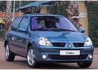 RENAULT Clio II 04-09, rok produkcji 2004, coupe, widok przedni prawy, samoch�d 3-drzwiowy, kolor niebieski jasny