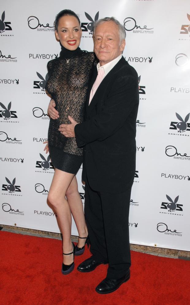 Hugh Hefner and Dasha Astafieva, Playmate of the Year 2008, at the 'Playboy Magazine 55th Anniversary Playmate' party hosted by Dasha Astafieva. - 20081212    colourpress.com     West Hollywood, USA - Photo: Scott Downie/Celebrityphoto.com