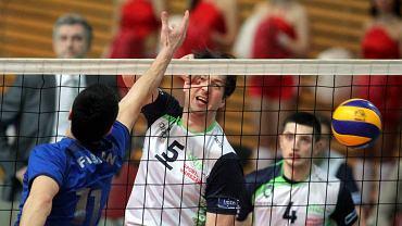 Rewanżowy mecz półfinału Pucharu Challenge pomiędzy AZS Politechniką Warszawską a Tomisem Constanta w Arenie Ursynów