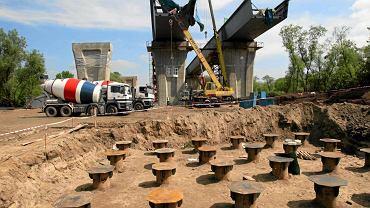 05.2010 - Fundamenty filaru mostu Północnego