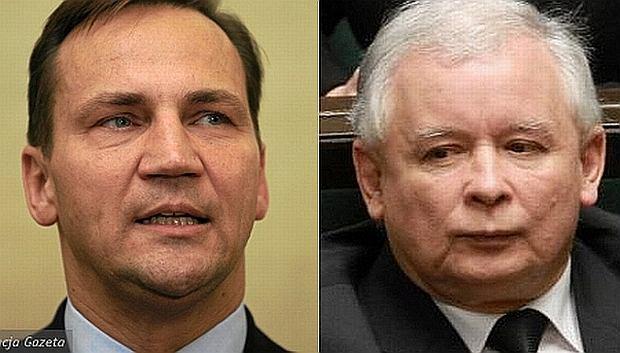 Radosław Sikorski i Jarosław Kaczyński