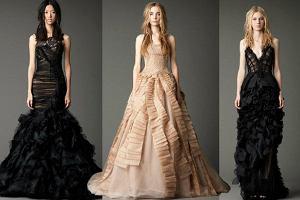 c0c55e3f69 Czarne suknie ślubne  Vera Wang na jesień 2012 2013