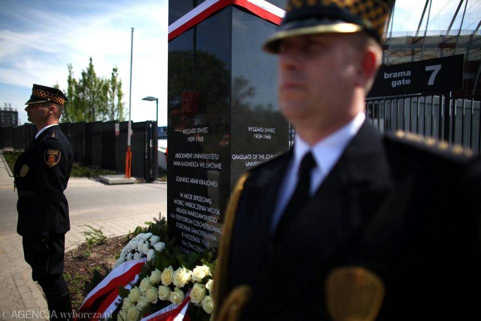 Pomnik Ryszarda Siwca przy Stadionie Narodowym