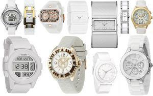 bia�y zegarek, wiosna 2012, lato 2012, damski zegarek