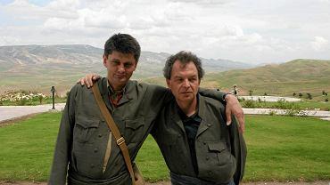 Krzysztof Miller i Paweł Smoleński w Iraku, 28.04.2005