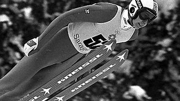 Matti Nykaenen podczas igrzysk w Sarajewie