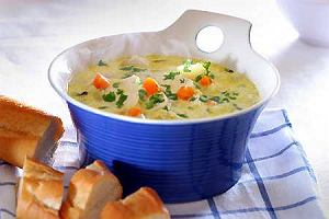 Waterzooi (zupa z kawa�kami kurczaka)