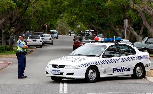 Australijska policja w akcji