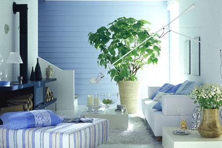 niebieski i biel wie o we wn trzu. Black Bedroom Furniture Sets. Home Design Ideas