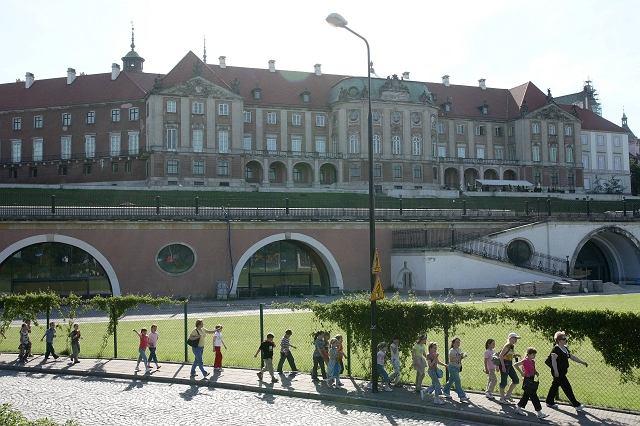Wschodnia fasada Zamku Królewskiego nad Arkadami Kubickiego