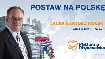 Plakat wyborczy Platformy Obywatelskiej