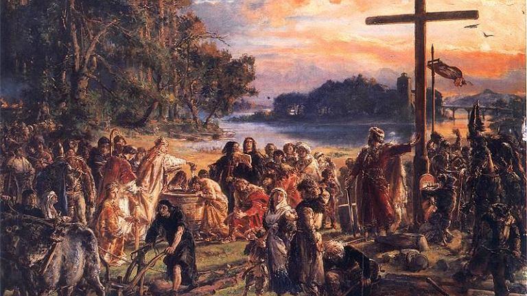 Zaprowadzenie chrześcijaństwa, Jan Matejko