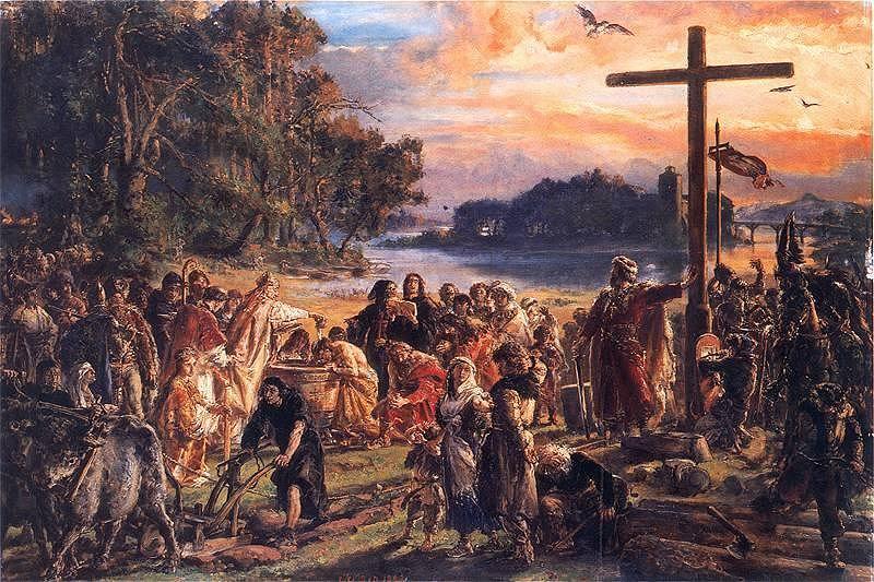 Chrzest Polski Mieszka I Małżeństwo Z Dobrawą Biskupstwo Misyjne