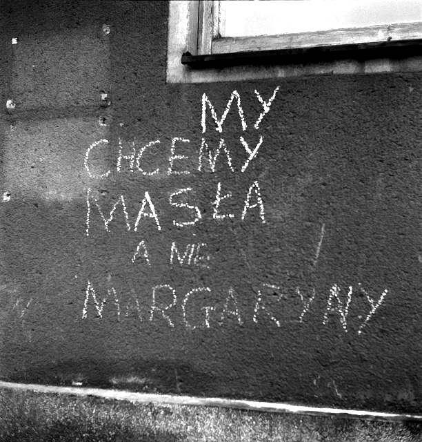 My chcemy mas�a a nie margaryny