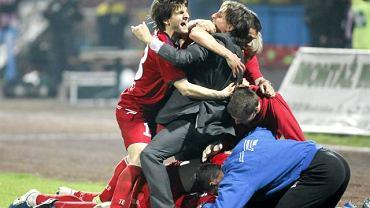 Radość piłkarzy Odry