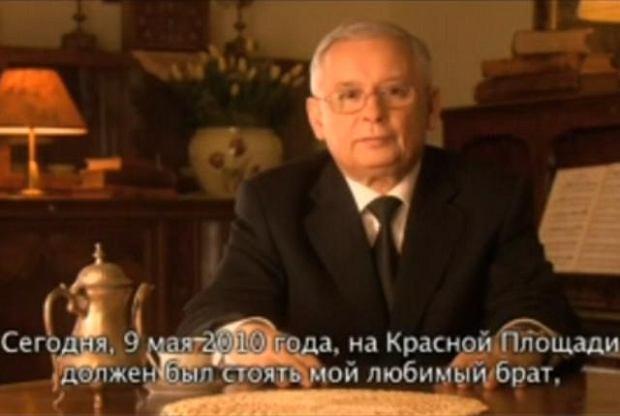 Jaros�aw Kaczy�ski w wideo-przes�aniu