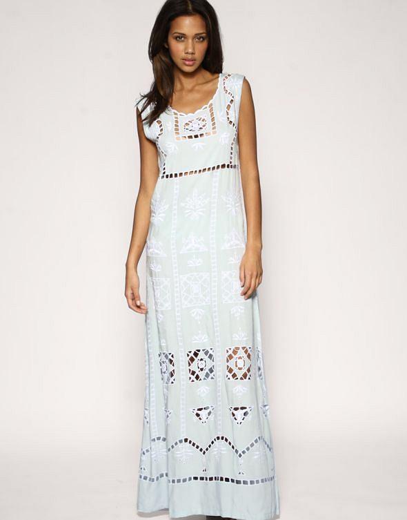 6105ec115e Rustykalna sukienka Asos