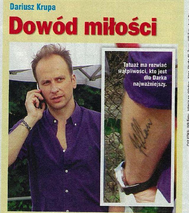 Zobacz Tatuaż Darka Krupy