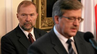 Jacek Michałowski i Bronisław Komorowski