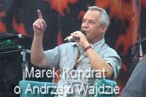 Marek Kondrat na Przystanku Woodstock opowiada dowcip o Andrzeju Wajdzie.