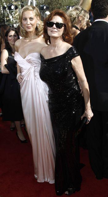 Actresses Eva Amurri and Susan Sarandon attend the 62nd Primetime Emmy Awards Sunday, Aug. 29, 2010, in Los Angeles. (AP Photo/Matt Sayles)