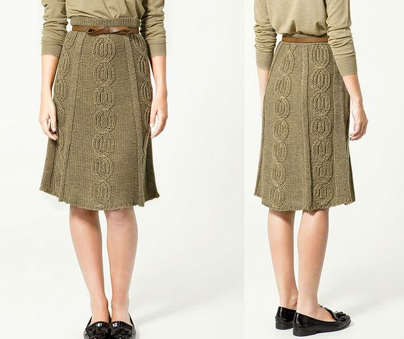 Wełniana spódnica Zara - ładna?