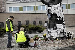 Zniszczy� pomnik na Pawiaku, bo s�ysza� g�osy